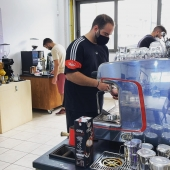 SCA Barista Intermediate@coffeelovers.gr #barista #baristatraining #espresso #cappuccino #coffeediploma #coffeelovers #coffee #coffeeknowledge #coffeeschool #jacobsespresso #easymilk